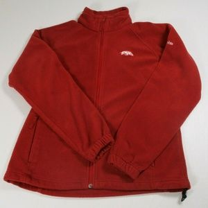 Columbia Women Sz L Arkansas Razorbacks Red Fleece